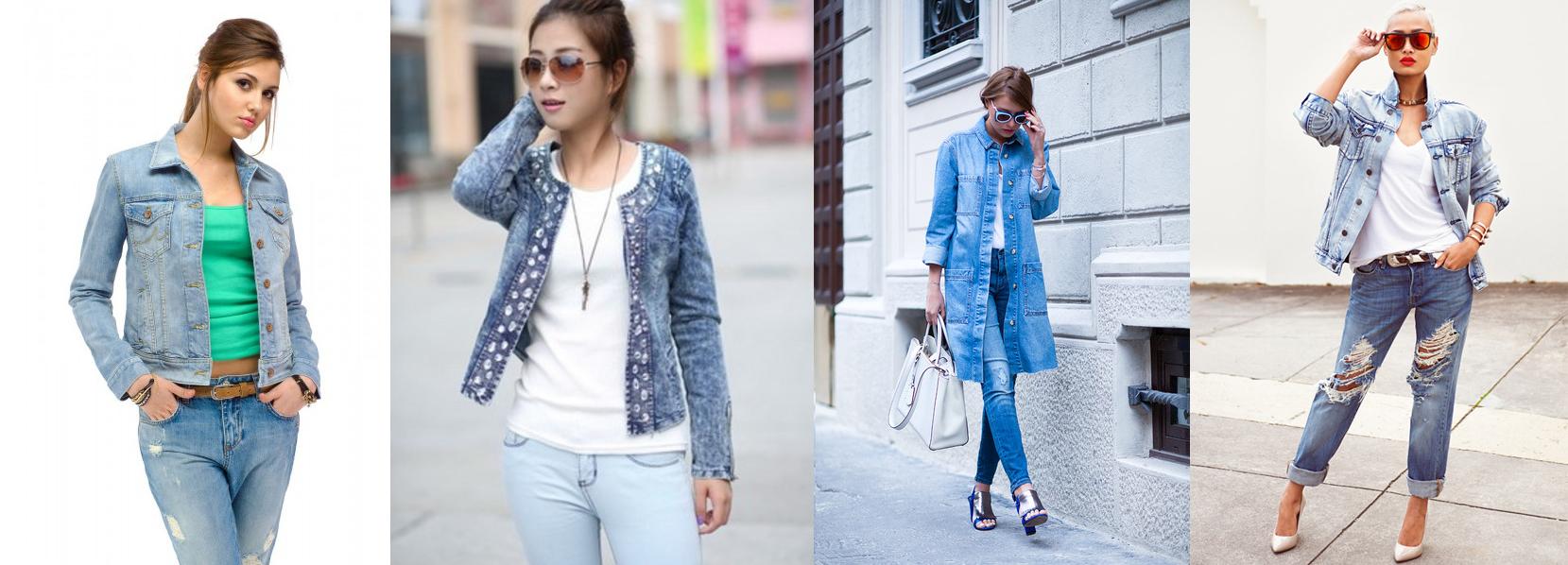 Джинсовые куртки с джинсами