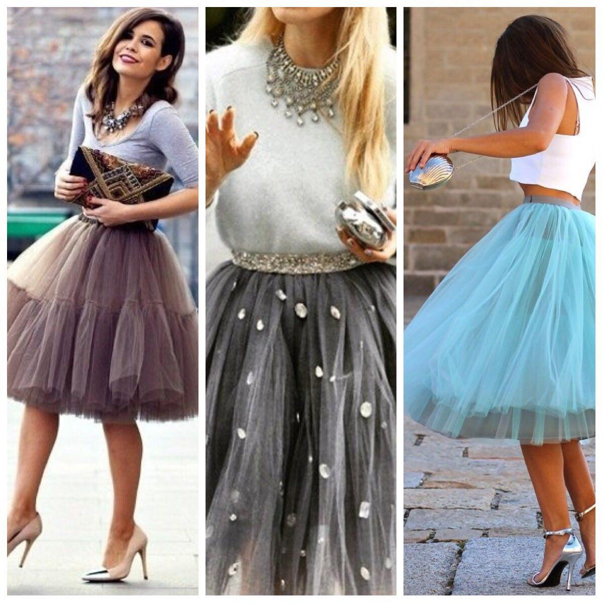 С чем носить юбку-пачку