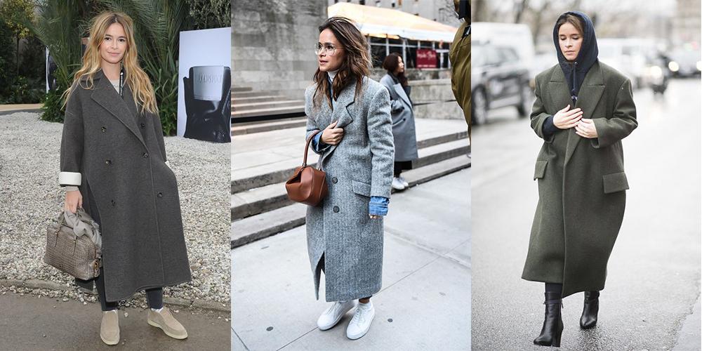 как носить длинное пальто