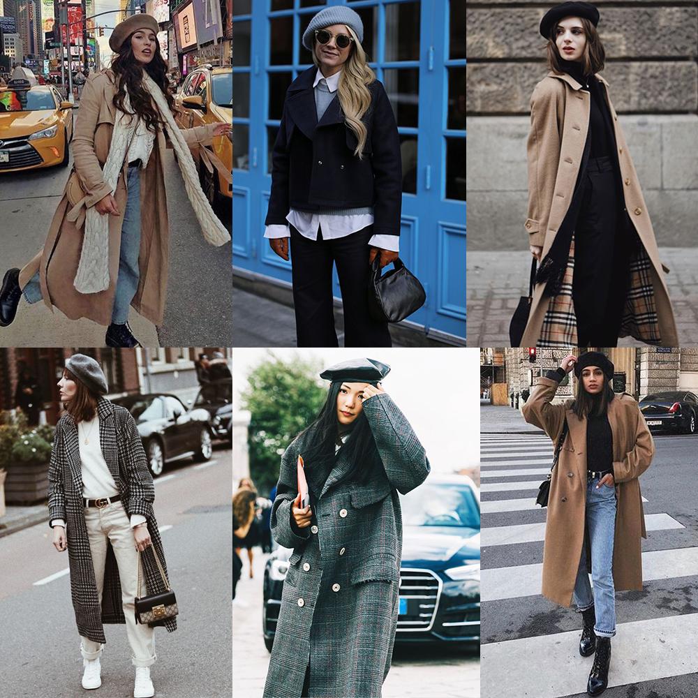 как носить шапку с пальто