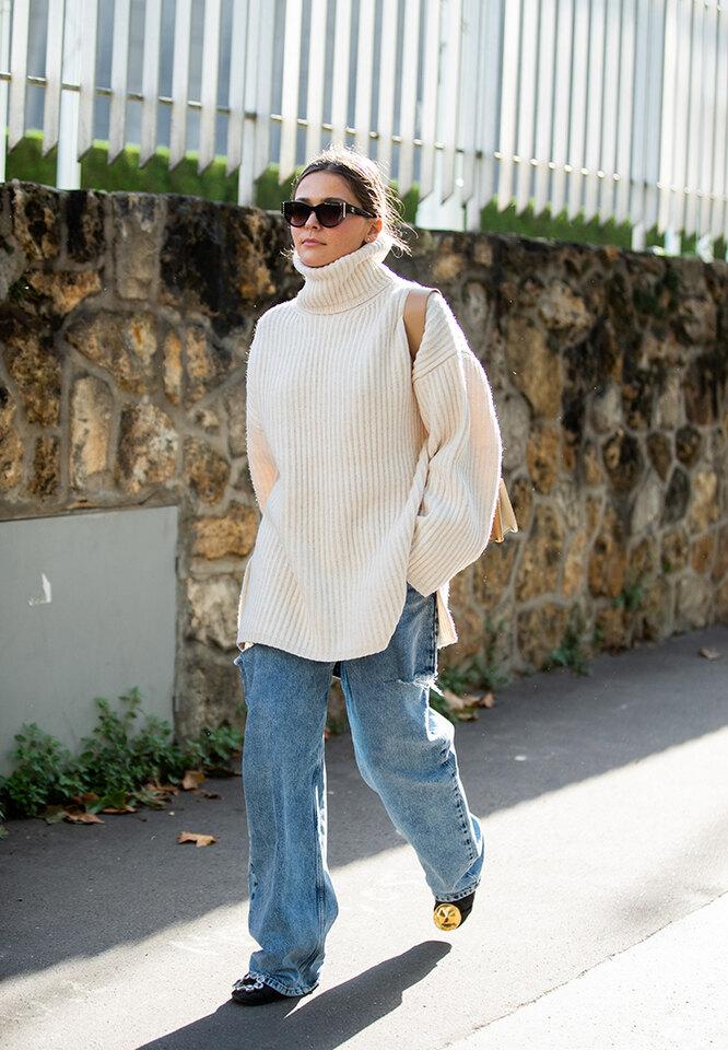 как правильно и стильно носить свитер