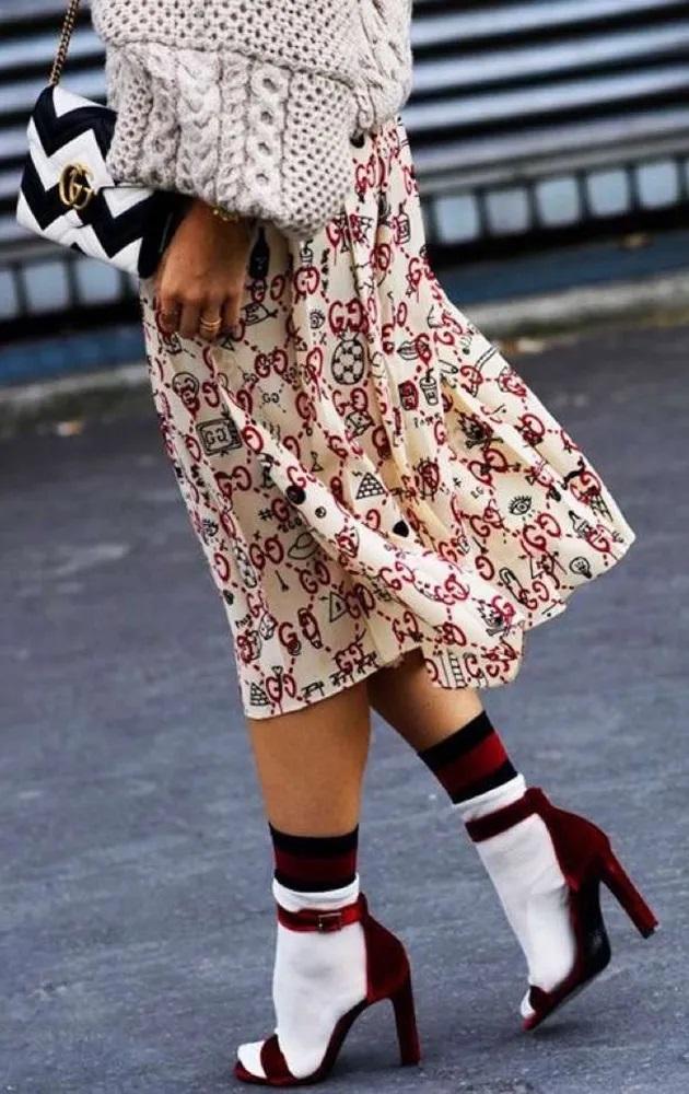 спортивные носки с босоножками