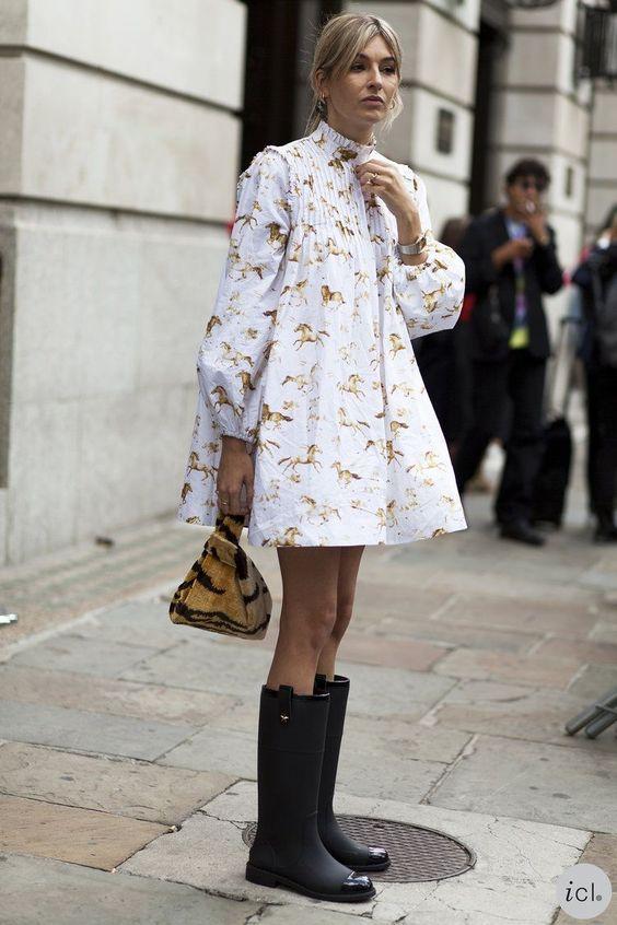 резиновые сапоги с чем носить 2021