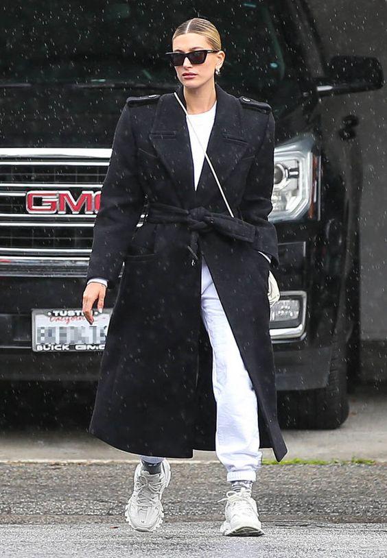 черное оверсайз пальто с чем носить 2021