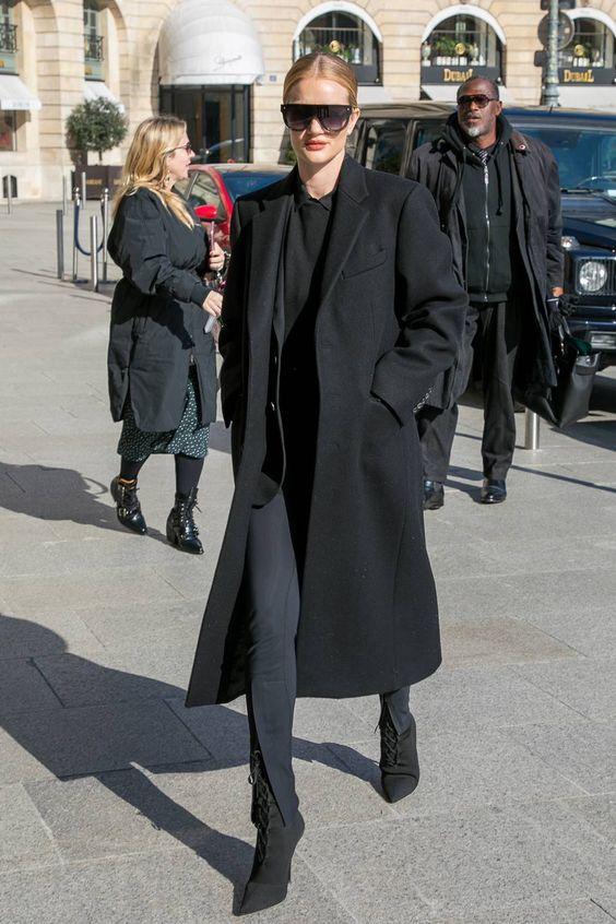 как носить черное оверсайз пальто 2021