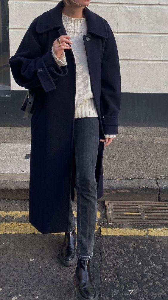 как носить оверсайз пальто 2021