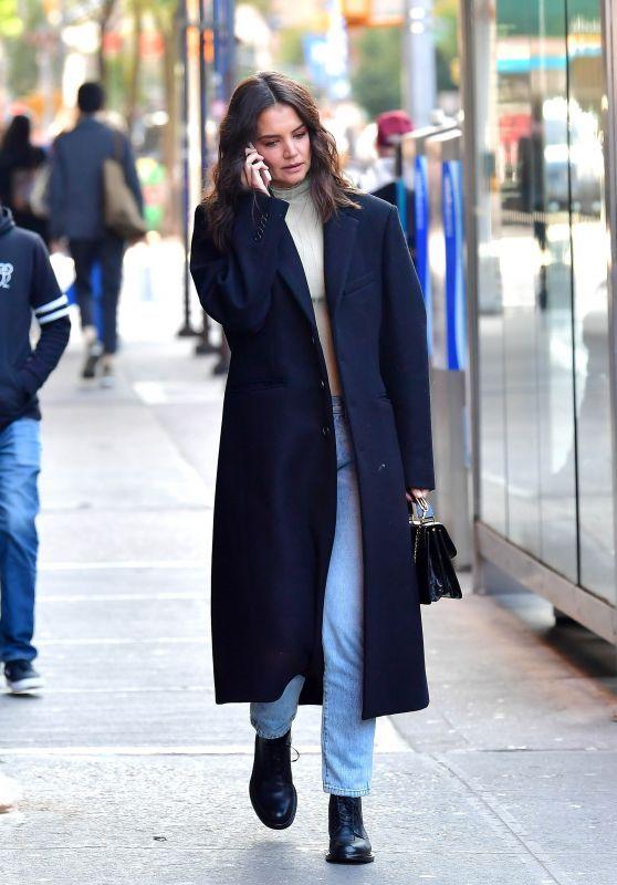 с чем носить синее пальто оверсайз