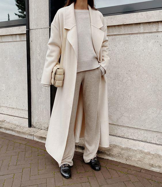белое пальто с чем носить 2021