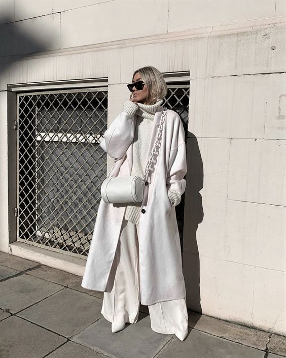 пальто оверсайз белое как носить образы 2021