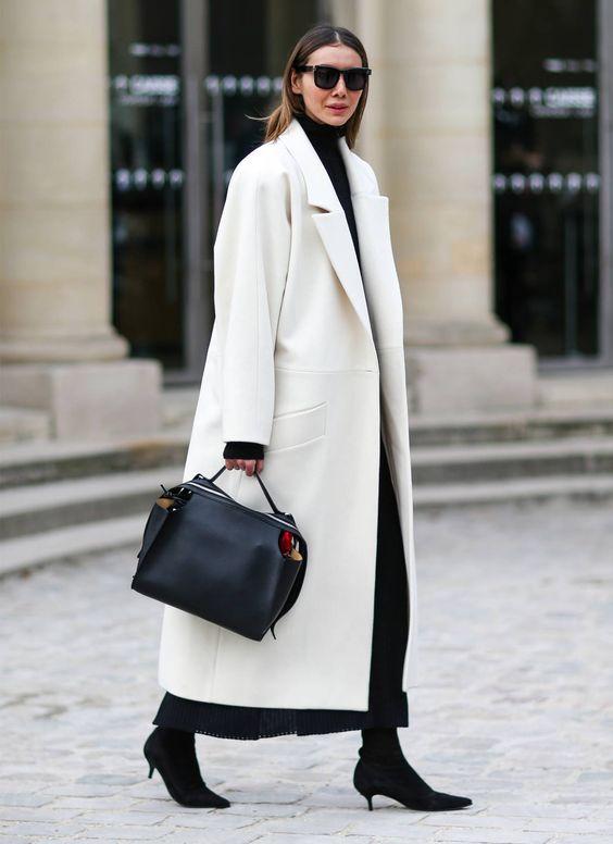 белое пальто как носить правильно 2021 оверсайз
