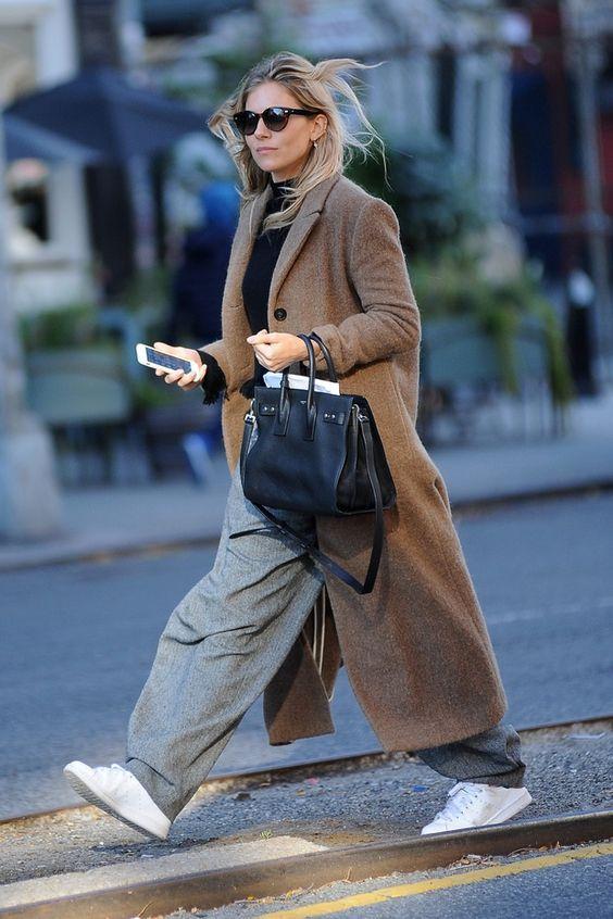 как носить бежевое пальто оверсайз 2021